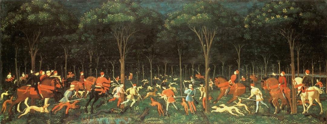 Paolo Uccello - Caccia notturna, 1470 ca.