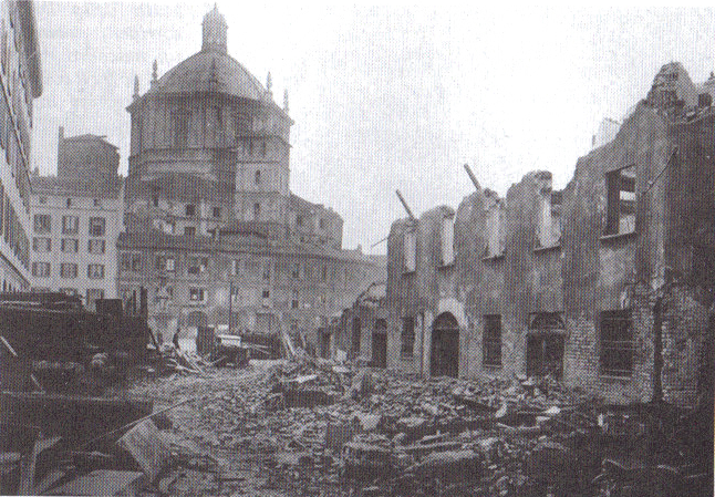 Ecco come si presentava la Vetra e i Vetraschi dopo i bombardamenti dell'estate 1943
