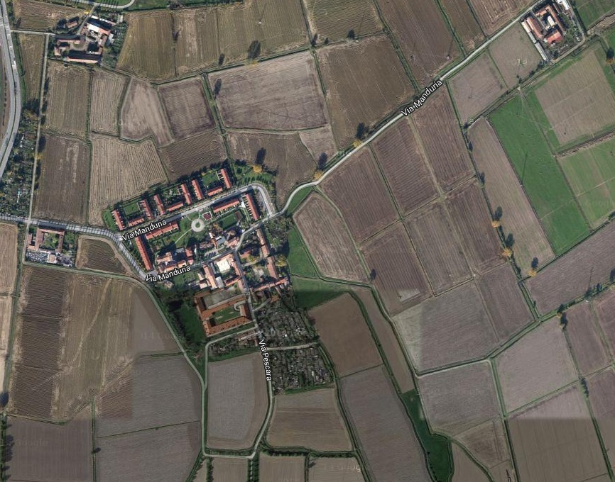 Vista aerea del Ronchetto delle Rane