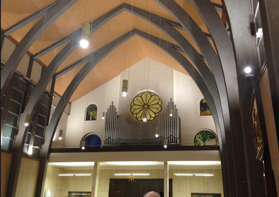 Mendelssohn ci aspettava lassù, dove vedete l'organo!