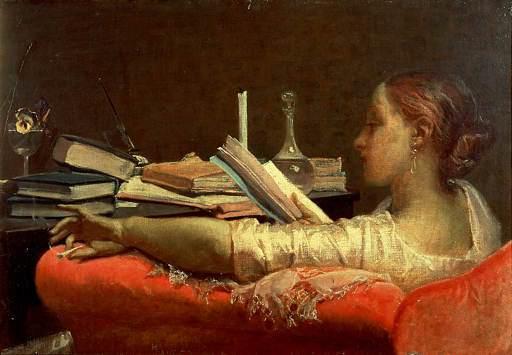 Clara, 1865 di Federico Faruffini, rappresenta, anticipando il gusto e i tempi, lo stereotipo di una ragazza ricca ed emancipata