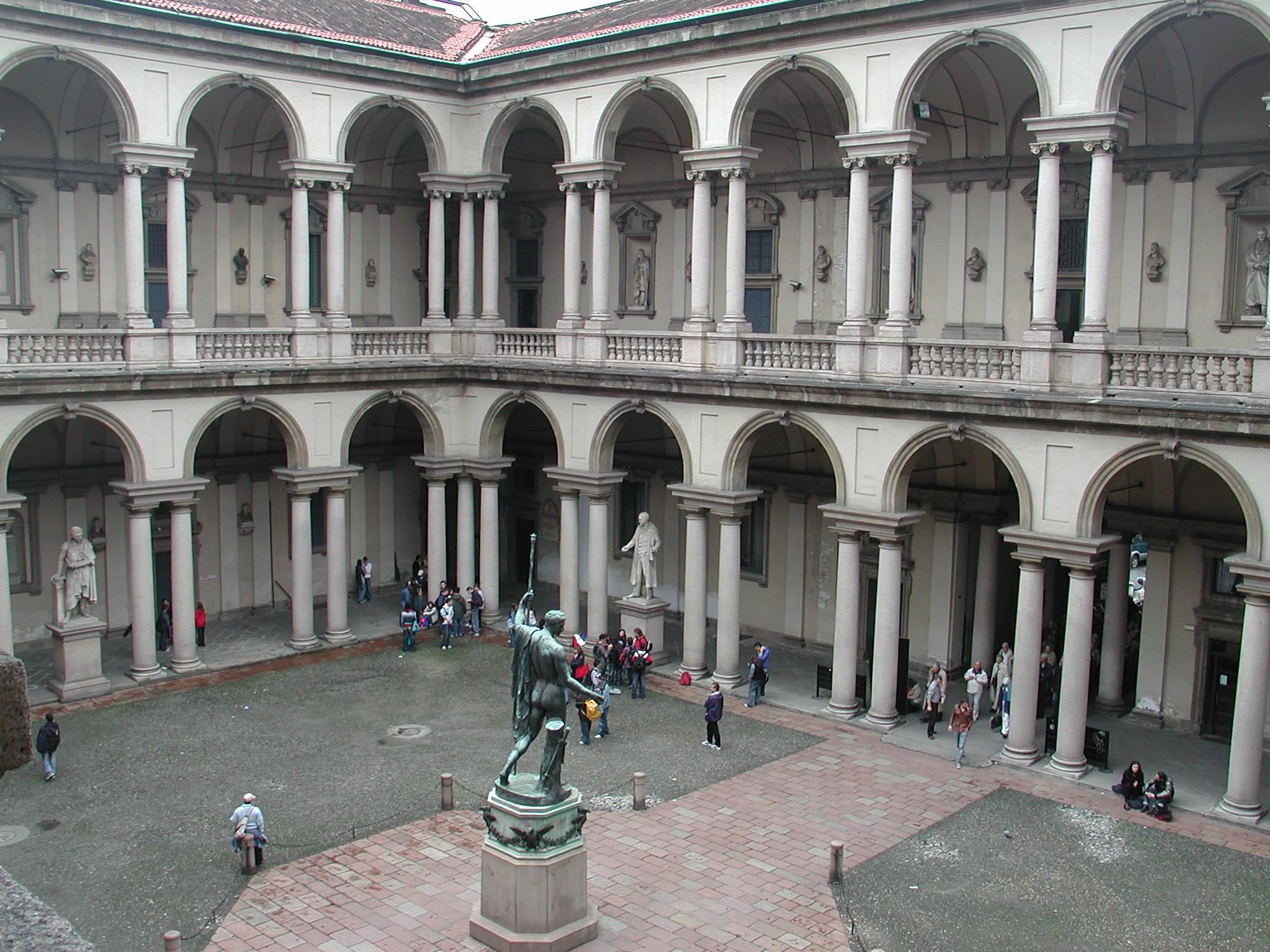 Cortile del Palazzo di Brera.