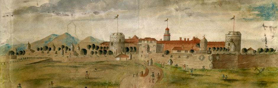 Catterina Merlini, Veduta del Castello di Milano, acquerello, 1795, ( Civica Raccolta delle Stampe Achille Bertarelli)