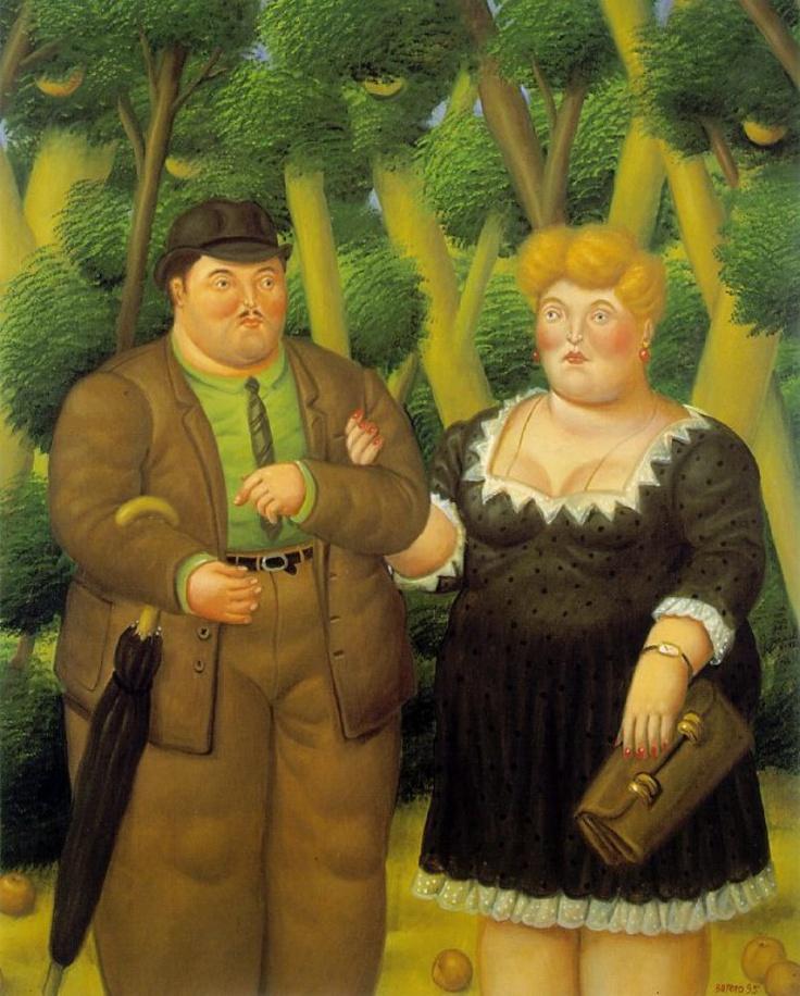"""L'amore condiviso secondo Botero, qui molto """"in linea"""" con l'assunto amare=prendere peso"""