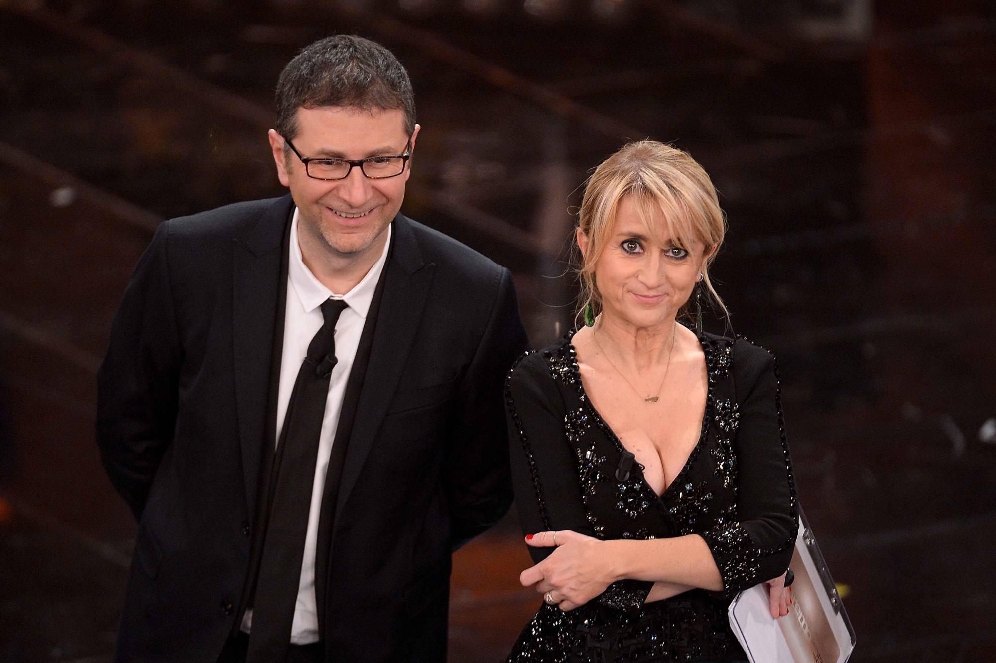 Littizzetto e Fazio: una coppia collaudata in TV oggi diventa anche una coppia di doppiatori (photo: Rai)