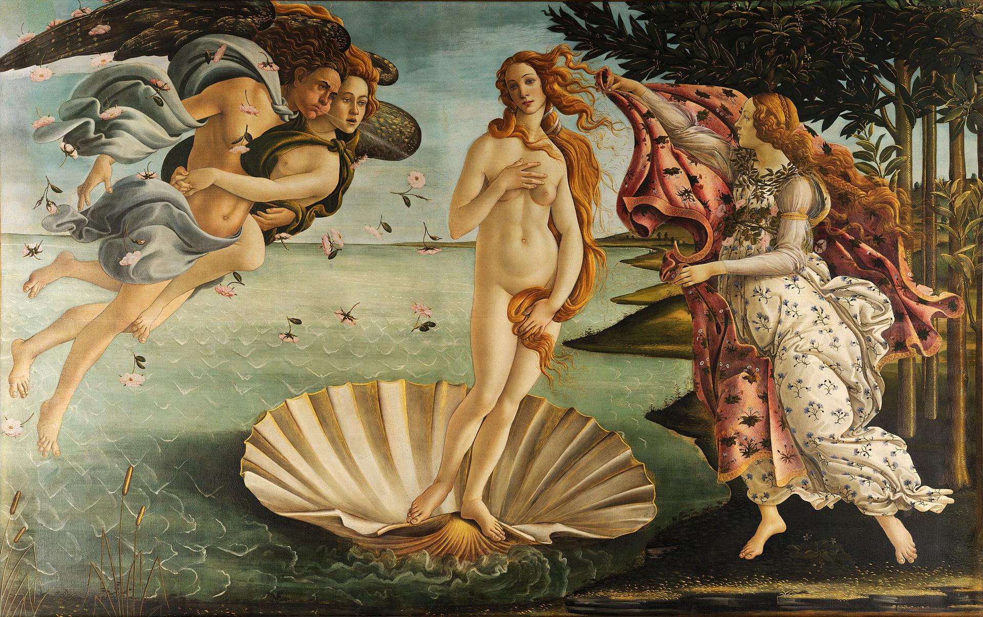 La nascita di Venere, di Sandro Botticelli (1482-85 c.)