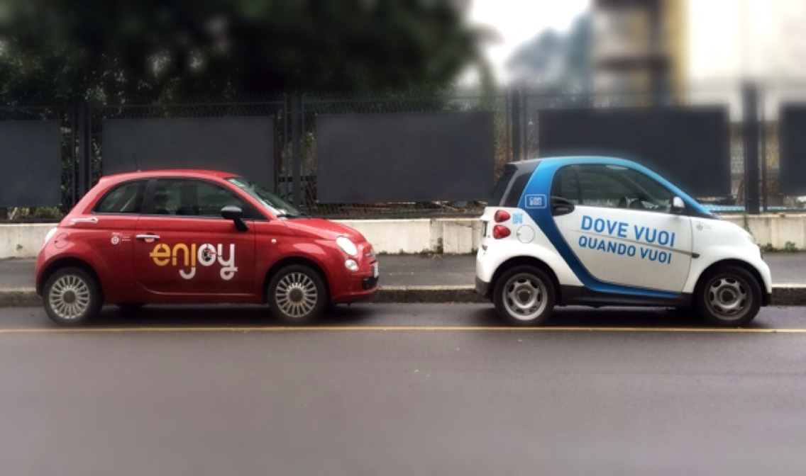 Il frequentatissimo car sharing a Milano (photo:Wired.it)