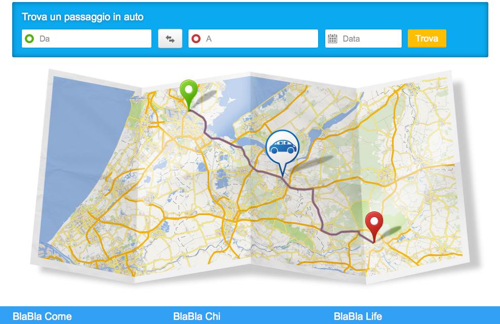 Un servizio intuitivo (cme si può vedere), il Bla Bla Car, non solo per i nativi digitali!