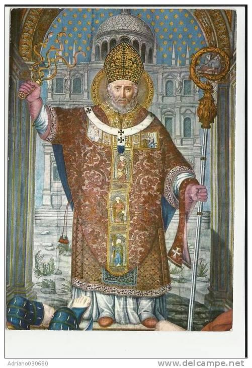 Lo stendardo di Milano con S. Ambrogio che tiene in mano la frusta che allontana gli infedeli.