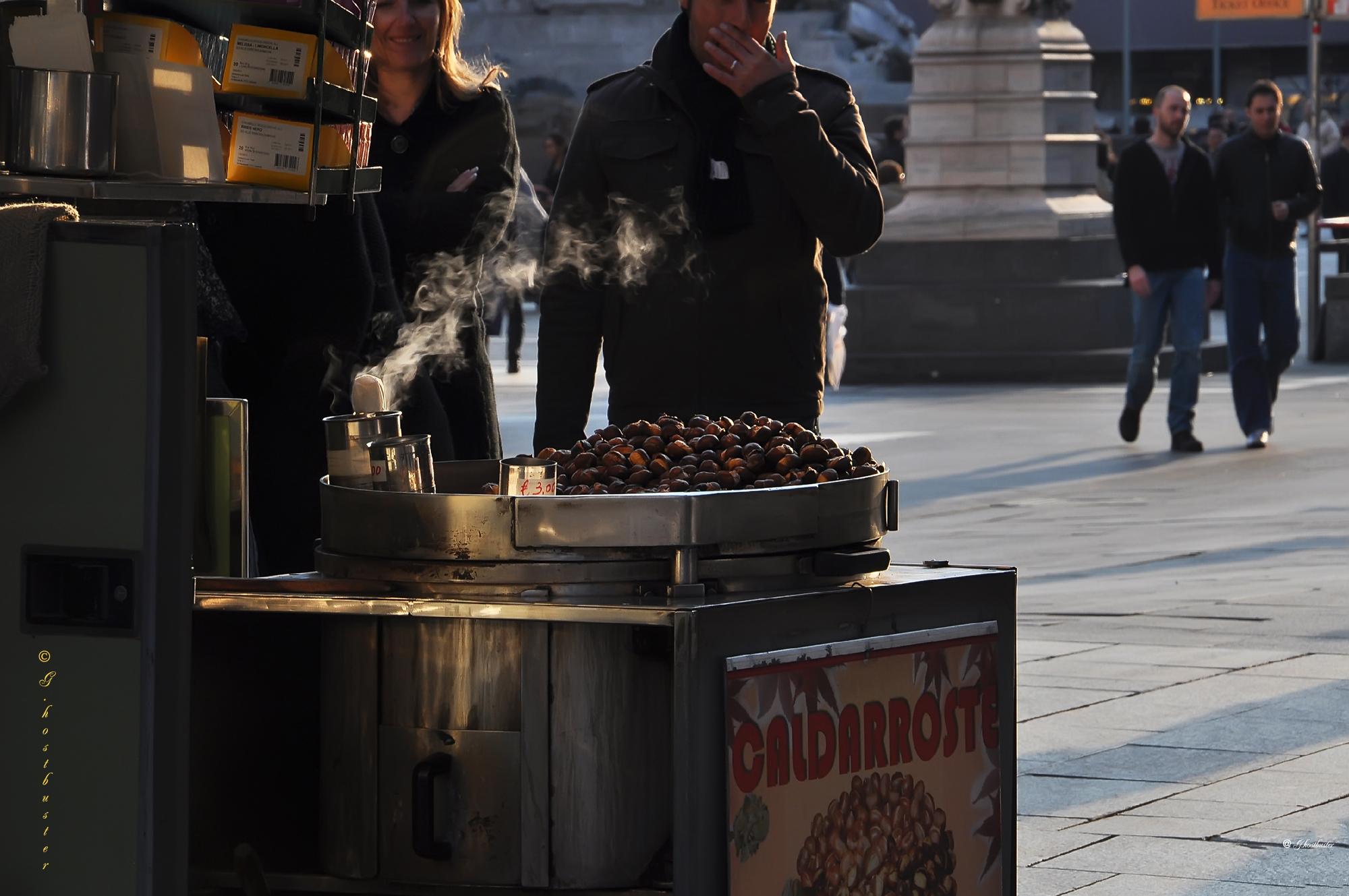 Le caldarroste, oggi un lusso milanese (photo: Luigi Alloni)