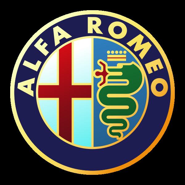 Il logo dell'Alfa Romeo che porta in sè i vari simboli di Milano.