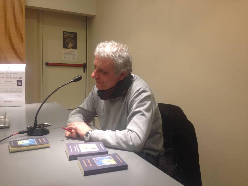 L'autore due sere fa alla presentazione dei libri presso la Claudiana di via Francesco Sforza