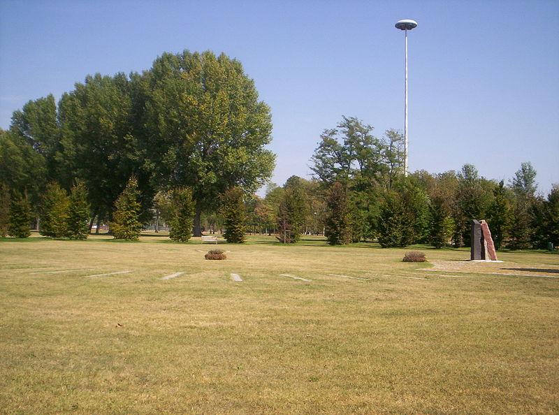 Un altro scorcio del parco Forlanini con un boschetto di pioppi