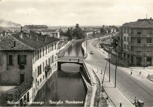 Vecchia foto della Villa Lecchi, ora Pallavicino in Viale Padova.