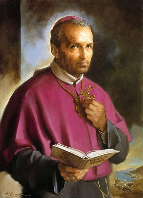Uno dei santi citati dallo scrittore: Sant'Alfonso de' Liguori, protettore... di moralisti!