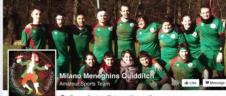 La squadra dei Milano Meneghins Quidditch, giocatori REALI di questo game... magico!