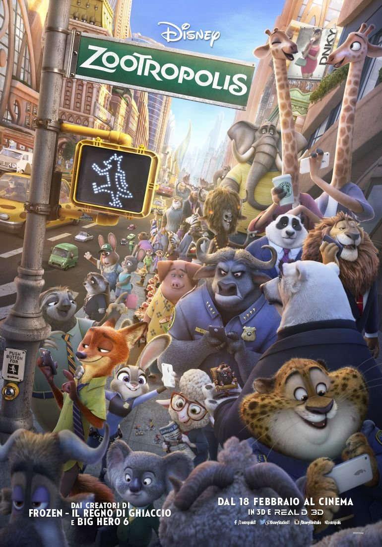 la locandina del film Zootropolis della Walt Disney.