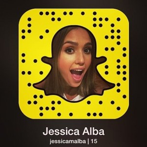 Una delle tante celebrities da seguire su Snapchat: Jessica Alba
