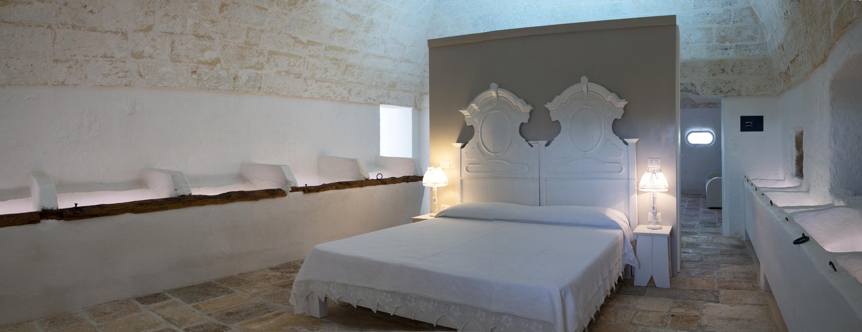 Masseria La Scalella - Casa La Stalla, camera da letto