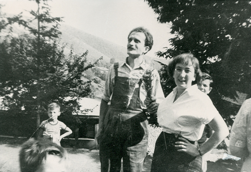 Rosina e Sergio Rossi - dal sito su Sergio Rossi