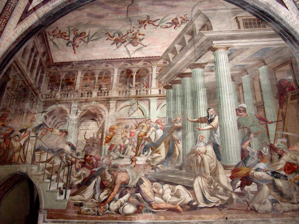 Affresco.Transetto. Martiri