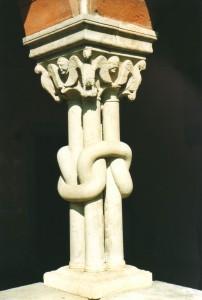 Colonne del chiostro (foto Giorces)