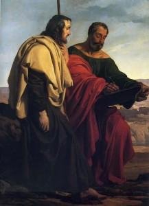 Hayez- Gli apostoli Giacomo e Filippo in viaggio per le loro predicazioni, in realtà fratelli Ciani, costretti-allesilio