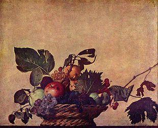 Canestra di frutta (Milano, Pinacoteca Ambrosiana) di Caravaggio.