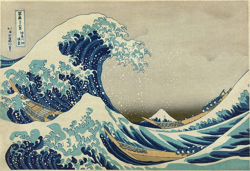 L'onda di Hokusai, esposta in mostra