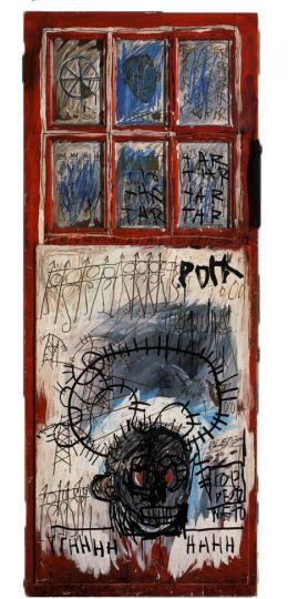 L'opera pork sans realizzata su una porta (foto di Erin Weinschenk)