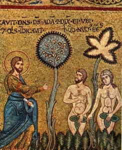 L'albero di fico nell'Eden (Monreale, mosaico del Duomo)