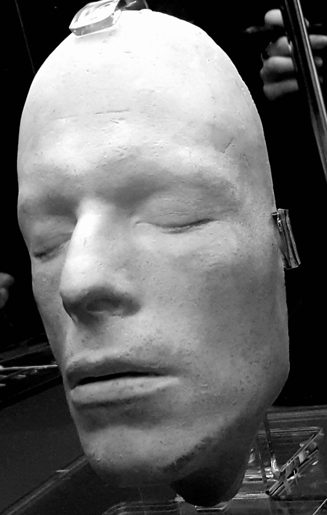 Il calco del volto di David Bowie