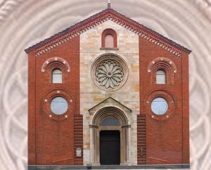 La facciata della Chiesa Valdese di Milano