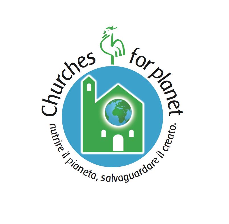 """il logo del Simposio del Gallo Verde """"Churches for Planet"""" (Milano 18 -20 sett 2015)"""
