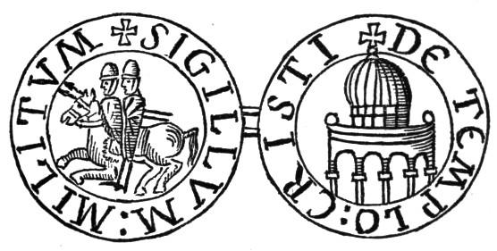 Il sigillo dei cavalieri: i due cavalieri che condividono la cavalcatura sono stati interpretati come simbolo di povertà o della dualità del monaco/soldato