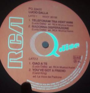Il Q-DISC di Lucio Dalla