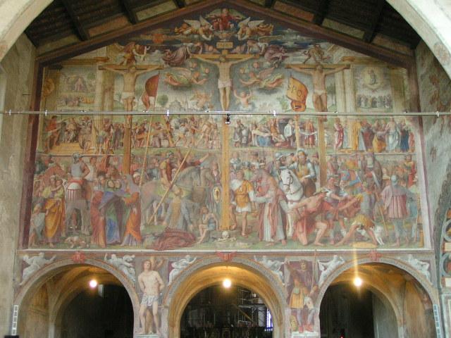 Affresco della Crocefissione di Bernardino Luini, 1529. Conservato nella chiesa di S. Maria degli Angeli a Lugano