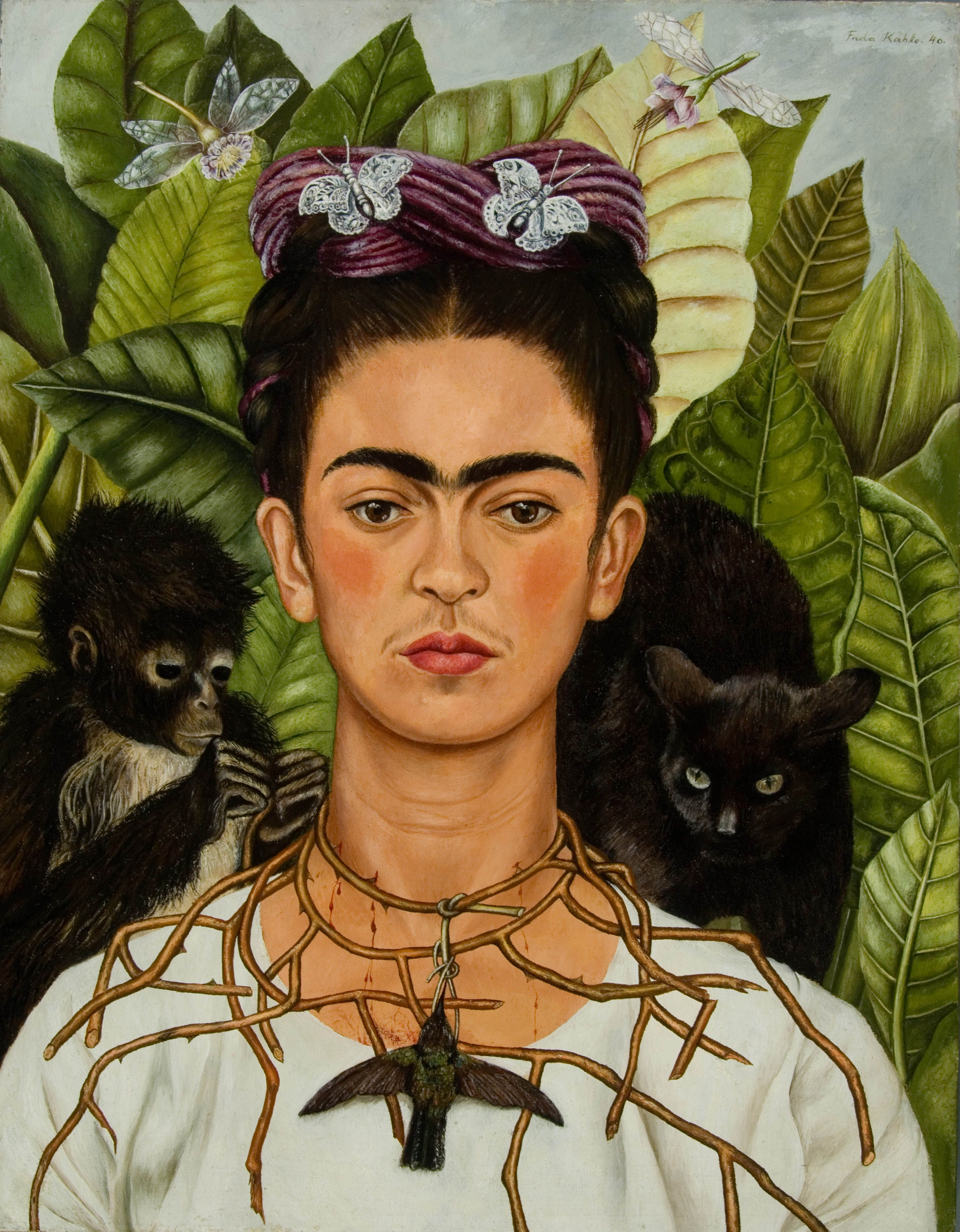 Autorretrato - Frdia Kahlo. Crediti: © Banco de México Diego Rivera Frida Kahlo Museums Trust, México, D.F. by SIAE 2017