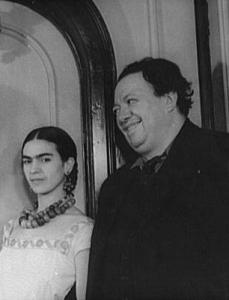 1932 - Frida Kahlo col marito Diego Rivera (photo: Wikipedia)