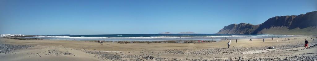 Un panorama delle belle spiagge dell'isola