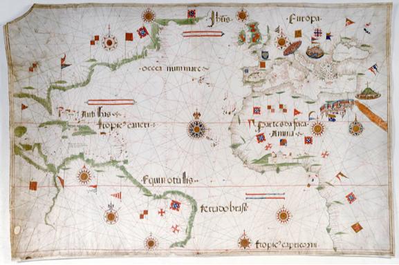 Mappa del mondo conosciuto nel 1535