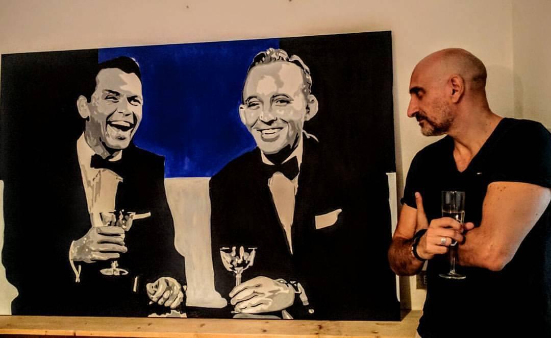 L'artista durante un happy hour con Frank Sinatra e Bing Crosby (parole sue!)