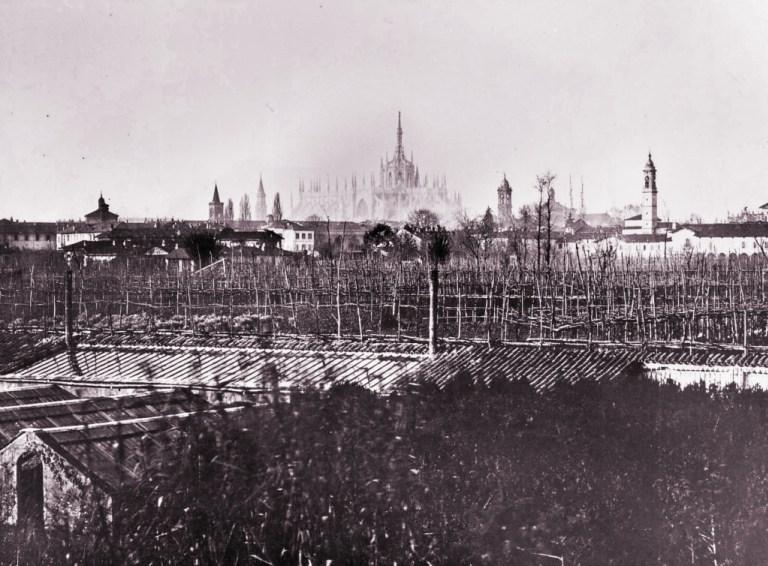 Ecco come si presentavano i terreni su Via Orti ancora nel 1870: una zona agricola ben coltivata a vigna e ortaglie