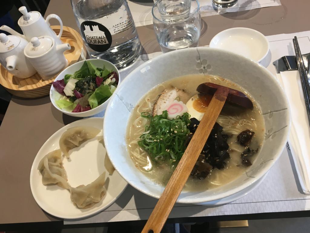 L'eccellente zuppa di ramen che ho assaggiato