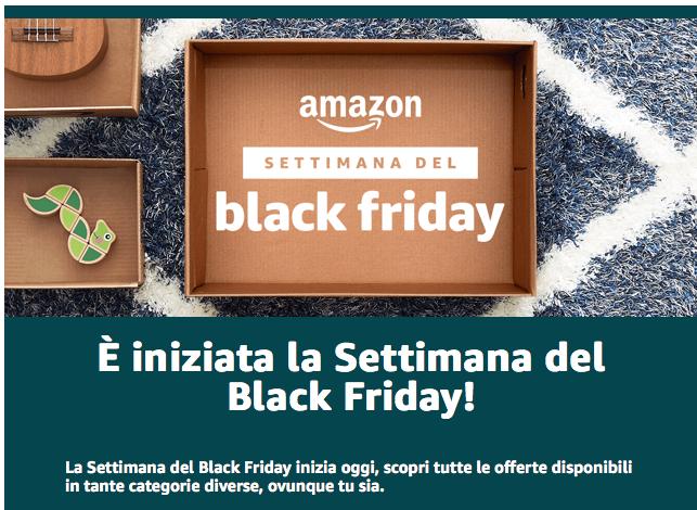 Ecco uno dei lanci pubblicitari di Amazon via newsletter