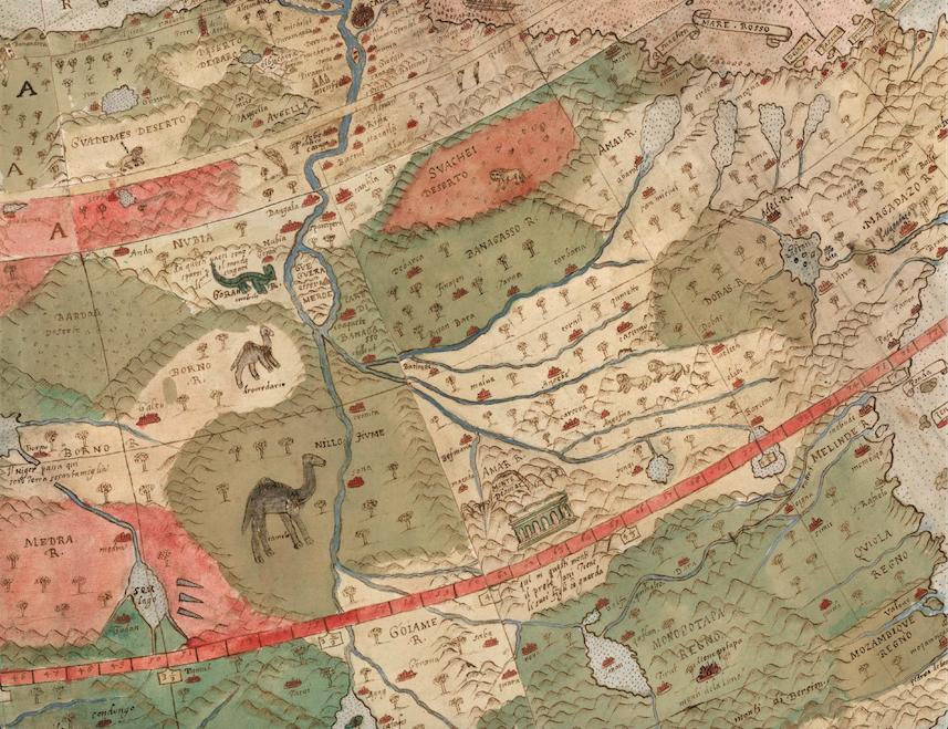 Un particolare della mappa con alcune creature