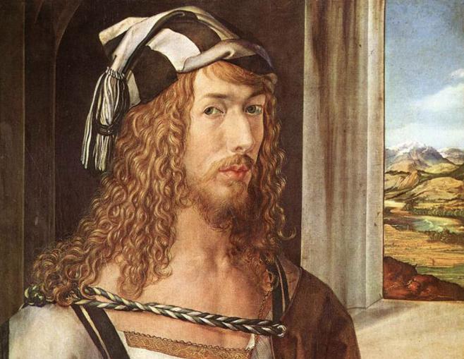 """Albrecht Dürer, """"Autoritratto con guanti"""" (1498)"""