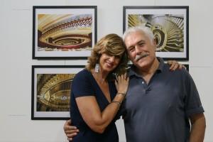 una personale immagine ricordo con Luigi durante la visita alla sua mostra