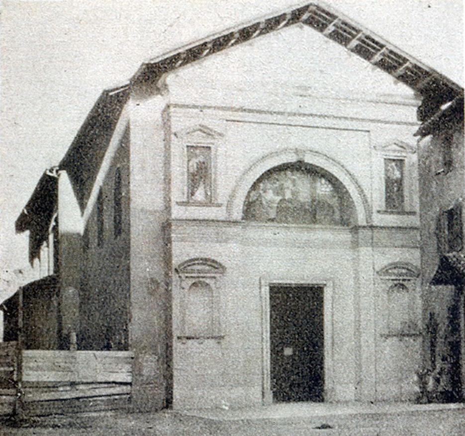 La facciata della chiesa come si presentava nel primo quarto del XX sec.