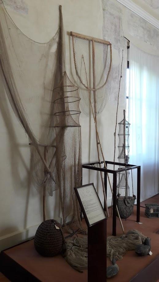 Una delle installazioni del museo etnografico dedicate alla pesca sul Po (foto di Robert Ribaudo)